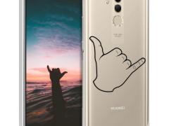 KW Θήκη Σιλικόνης Huawei Mate 20 Lite - Black / Transparent (46200.12)