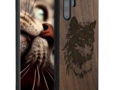 KW Σκληρή Ξύλινη Θήκη με TPU bumper Huawei P30 Pro - Wolf Head (47425.10)