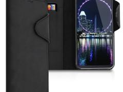 Kalibri Δερμάτινη Θήκη - Πορτοφόλι Samsung Galaxy A20e - Black (48750.01)