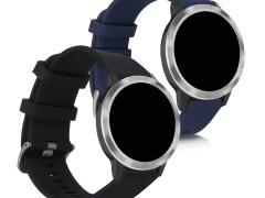 KW Ανταλλακτικά Λουράκια Garmin Vivomove 3 / Venu - 2 Τεμάχια - Black / Dark Blue (50439.01)