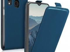 KWmobile Vertical Flip Θήκη Samsung Galaxy A20e - Dark Blue (48752.17)