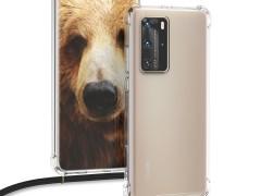 KW Θήκη Σιλικόνης με Λουράκι Λαιμού Huawei P40 Pro - Transparent (51846.03)