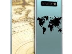 KW Θήκη Σιλικόνης Samsung Galaxy S10 Plus - World Map (47458.01)