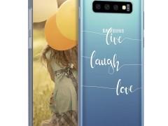 KW Θήκη Σιλικόνης Samsung Galaxy S10 - Live Laugh Love (47448.02)