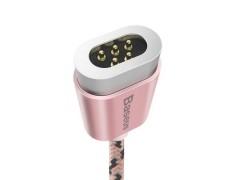 Baseus Insnap Series 2.4A Μαγνητικό Καλώδιο Φόρτισης/Μεταφοράς Δεδομένων USB 1M Χωρίς Connector - Pink (CAMCLH-ALF0R)