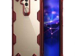 Ringke Fusion-X Θήκη Huawei Mate 20 Lite με TPU Bumper - Ruby Red (14634)