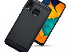 Terrapin TPU Θήκη Σιλικόνης Carbon Fibre Samsung Galaxy A30 - Black (118-002-754)