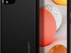 Spigen Θήκη Rugged Armor Samsung Galaxy A42 5G - Matte Black (ACS02113)