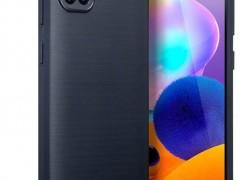 Terrapin Θήκη Σιλικόνης Carbon Fibre Samsung Galaxy A31 - Dark Blue (118-002-854)