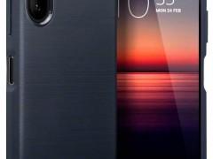Terrapin Θήκη Σιλικόνης Carbon Fibre Sony Xperia 1 II - Dark Blue (118-005-525)