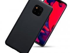 Terrapin Θήκη Σιλικόνης Huawei Mate 20 Pro - Solid Black Matte Finish (118-083-188)