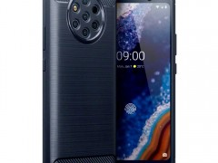 Terrapin Θήκη Σιλικόνης Carbon Fibre Design Nokia 9 Pureview - Blue (118-001-295)