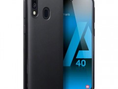 Terrapin Θήκη Σιλικόνης Samsung Galaxy A40 - Solid Black Matte Finish (118-002-763)