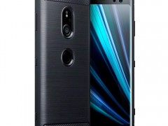Terrapin Θήκη Σιλικόνης Carbon Fibre Design Sony Xperia XZ3 - Dark Blue (118-005-487)